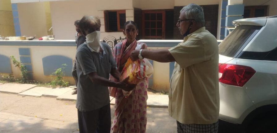 Food grains distributed to DC office as a charity to downtrodden and needy people