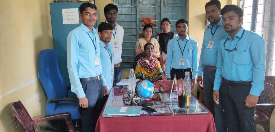 Adarash govt school, gulbarga, internship activities